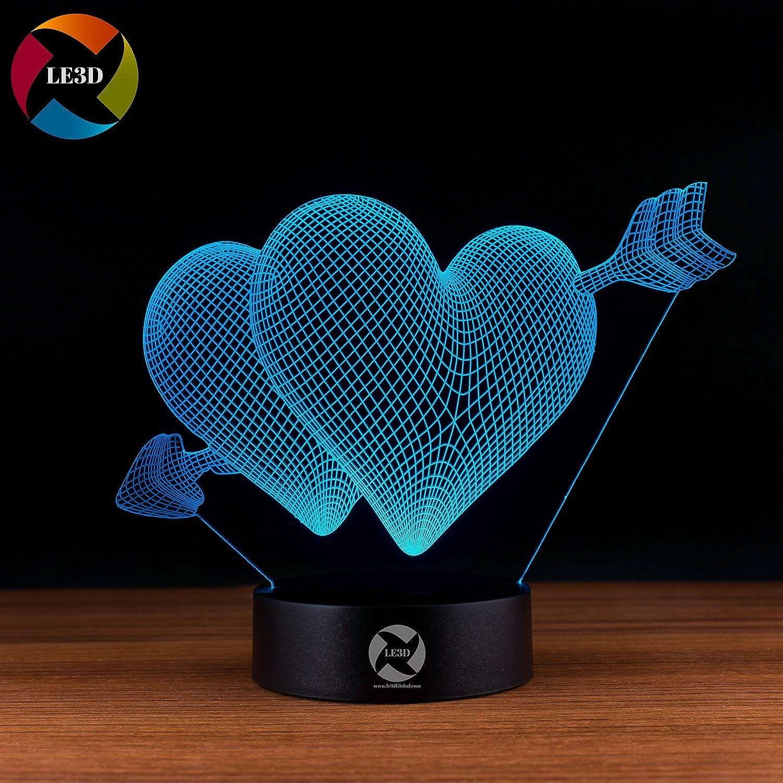 3D ナイトライト B072K3B1GK 10609 2 Hearts 2 Hearts