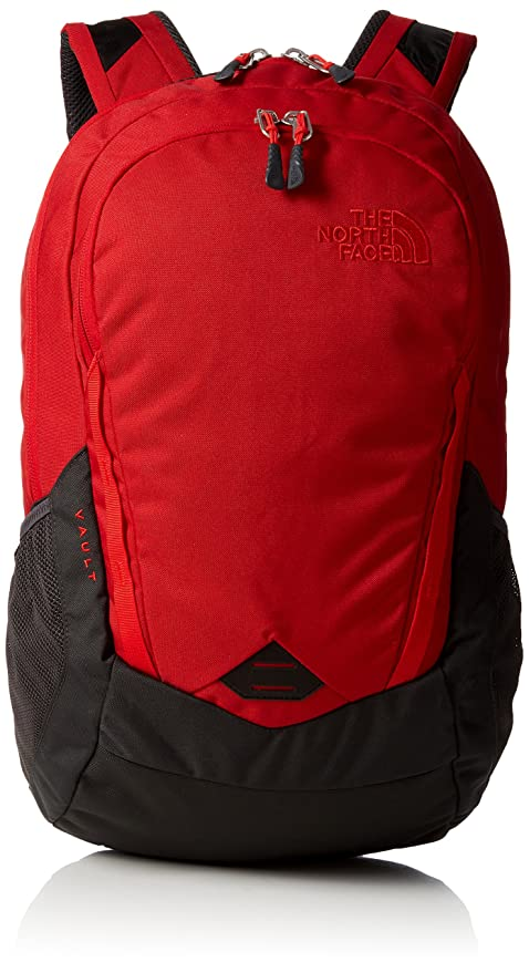 d9629ccf64 The North Face Vault Laptop Backpack- Sale Colors (Rage Red Asphalt Grey)