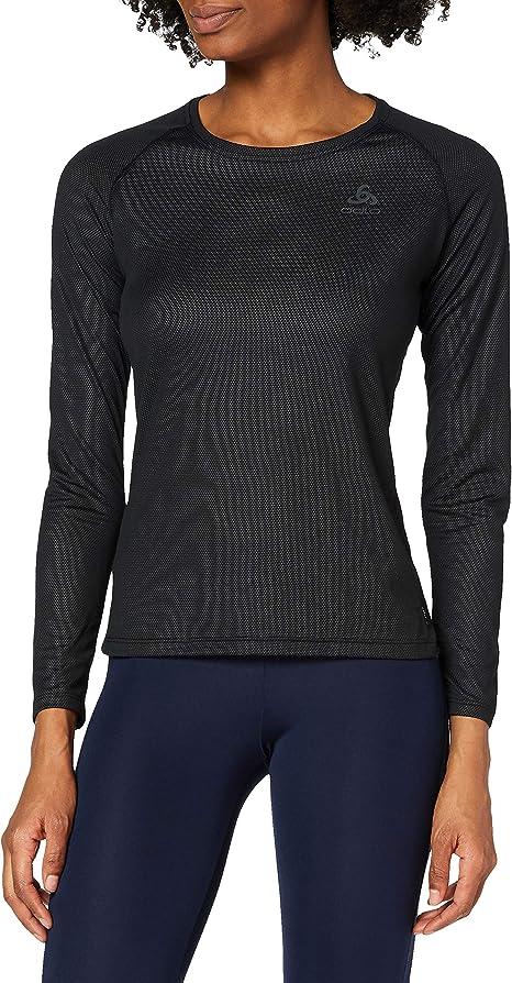 Odlo Damen Bl Top Crew Neck L//S Active Warm Unterhemd