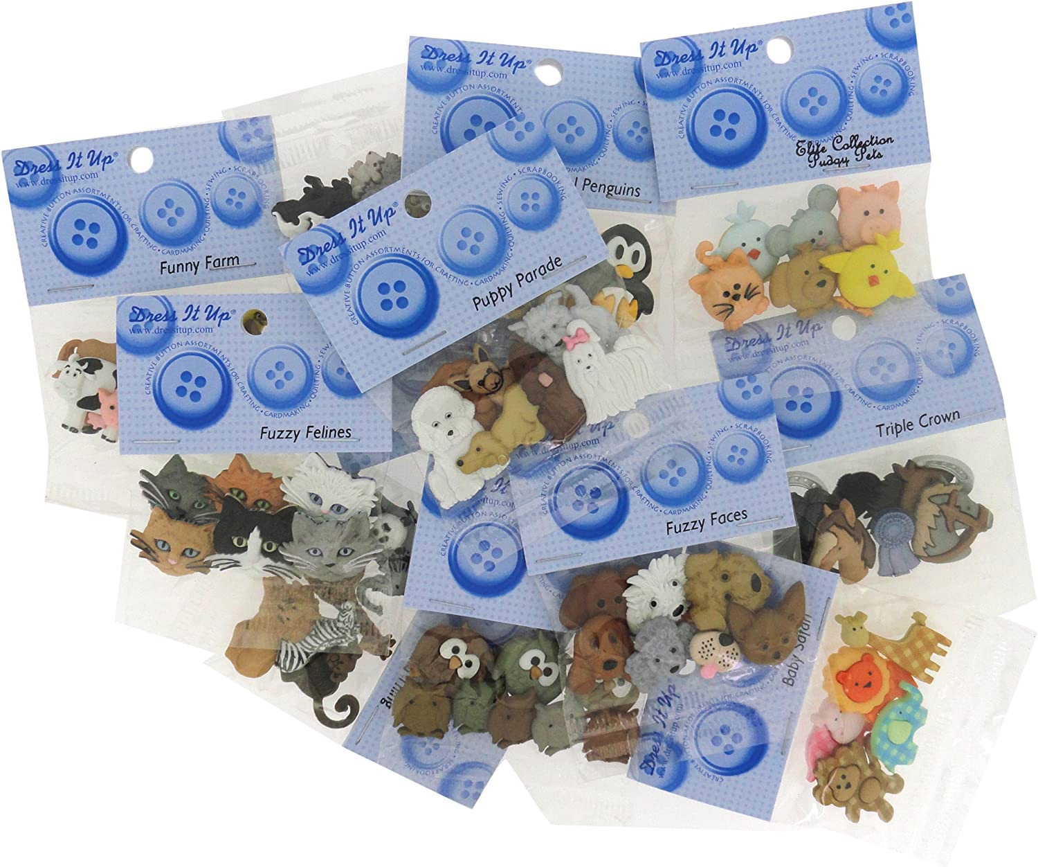 Flatback Wooden Buttons Craft Embellishment Supply Farm Animal Buttons Sheep Buttons Unique Sewing Fasteners Grab Bag Cute White Lambs
