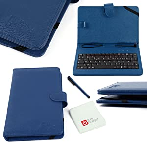 DURAGADGET Blue Faux Leather AZERTY French Keyboard Case w/Stand Function - Compatible with Acer Iconia Tab A1 | A1-811 | A1-8 | W3 | W3-810 | W4-820 & A100 Tablets