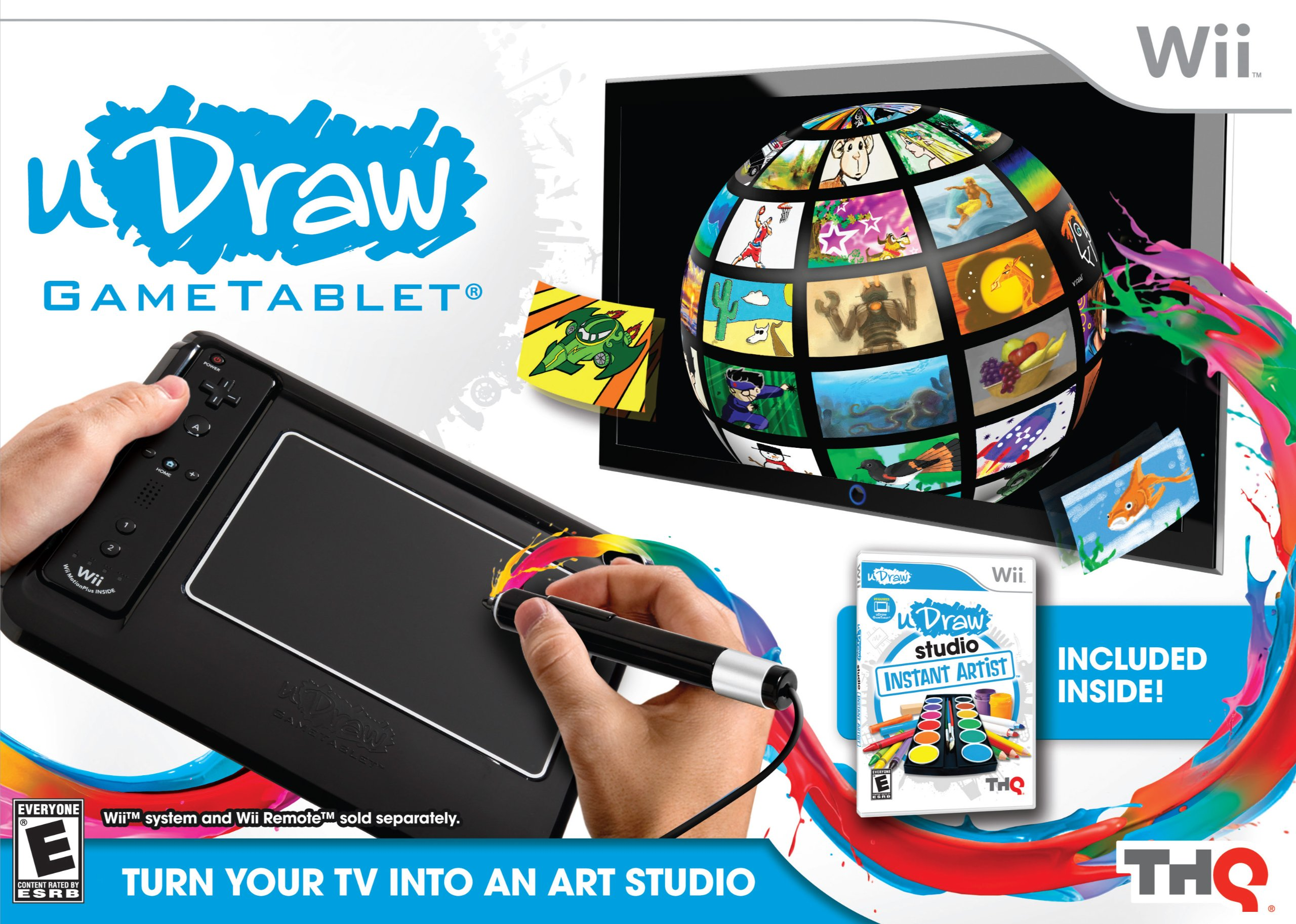 uDraw Game tablet with uDraw Studio: Instant Artist - Black - Nintendo Wii