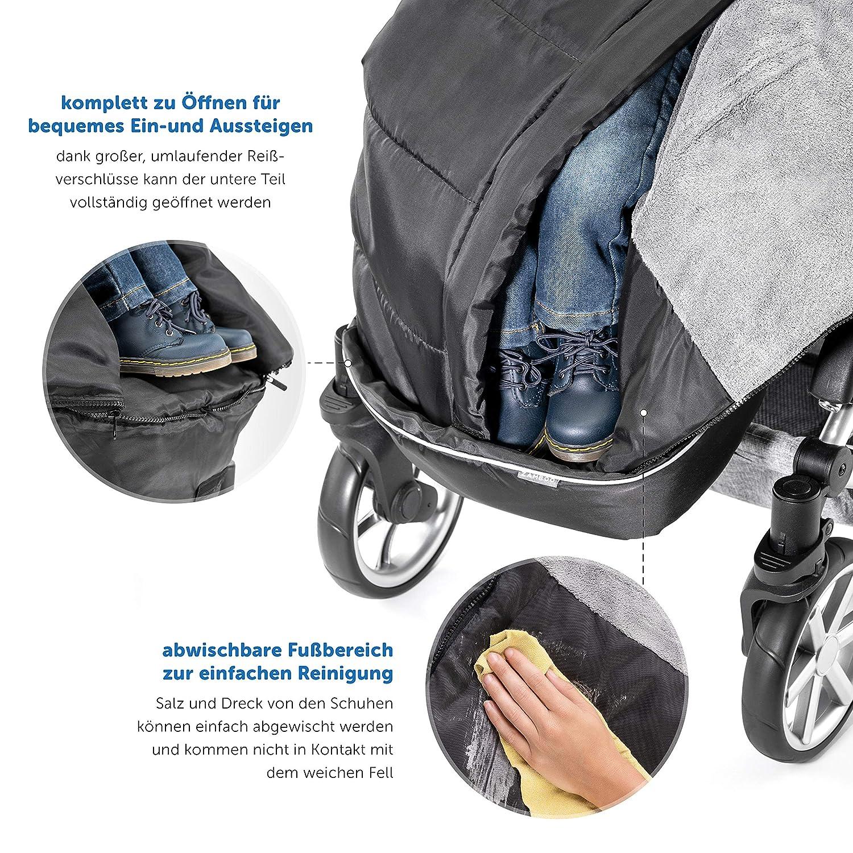 Winter Fußsack für Kinderwagen Sportwagen /& Buggy weiche Thermo Fleece Fußsäcke