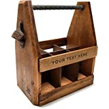 Handcrafted Wooden Beer Carrier with Bottle Opener / Customized / Six Pack
