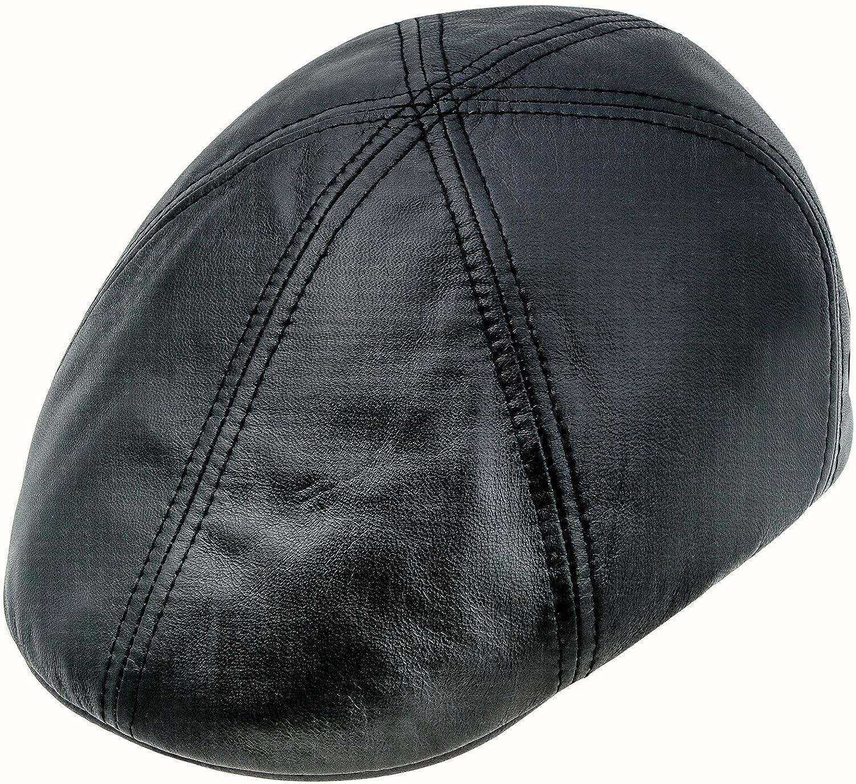 Sterkowski Genuine Leather 6 Panel Classic Duckbill Flat Cap