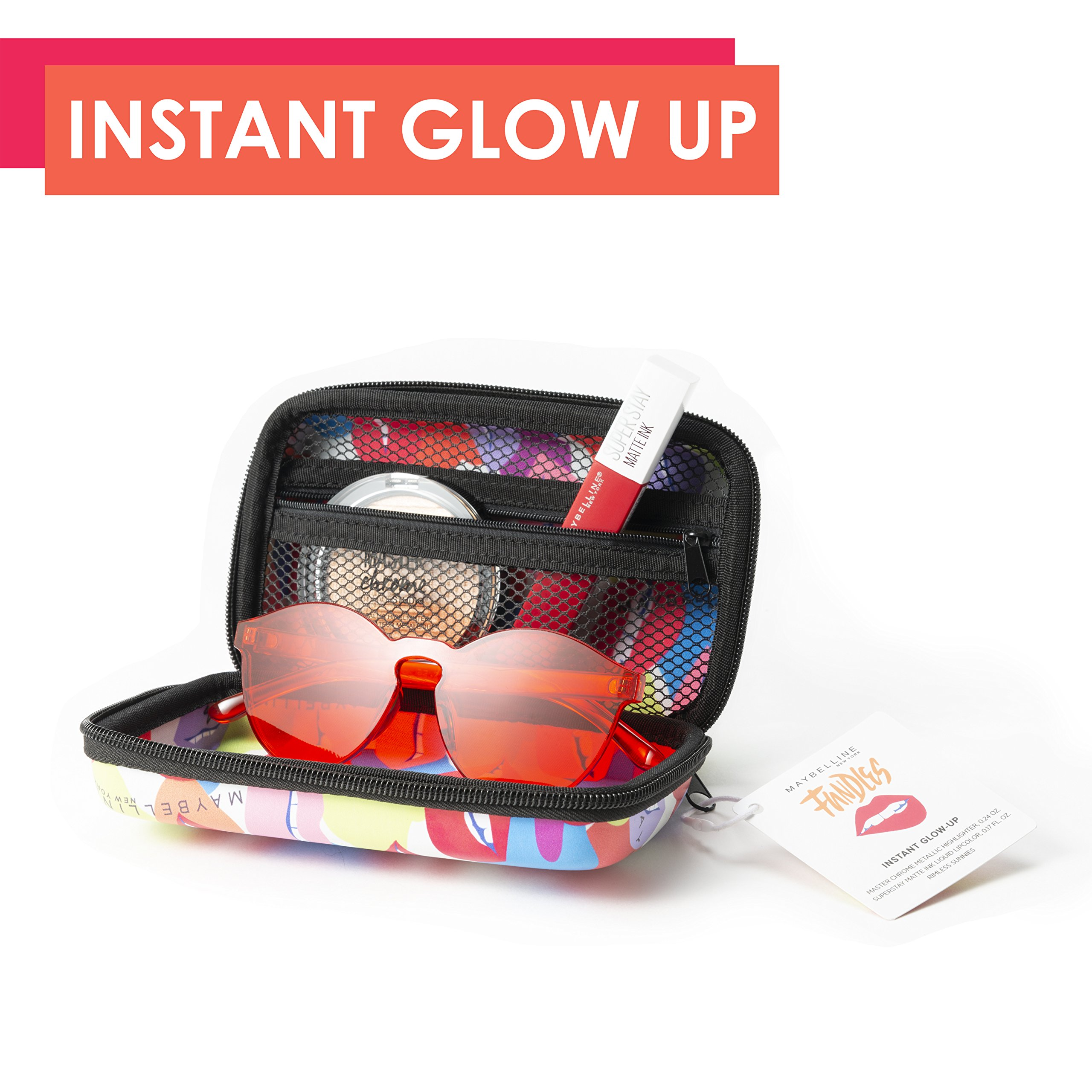 Maybelline Limited-Edition Fundles Instant Glow-Up w/Master Chrome Highlighter, SuperStay Matte Ink Liquid Lipstick and Rimless Sunnies