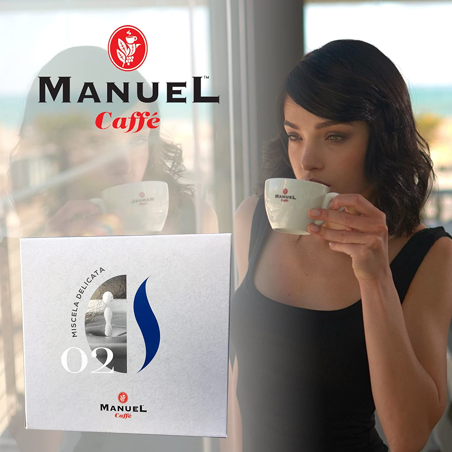Roasted Italian Premium Espresso By Manuel Caffe. Light Roast, Medium-Bodied Blend, Rich And Thick Crema. More Flavor And Roast Selection In Our Amazon ...