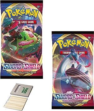 Price Toys Pokemon TCG: Sword & Shield Booster | 20 Cartas y Juego de Colorear (2 Pack S&S): Amazon.es: Juguetes y juegos