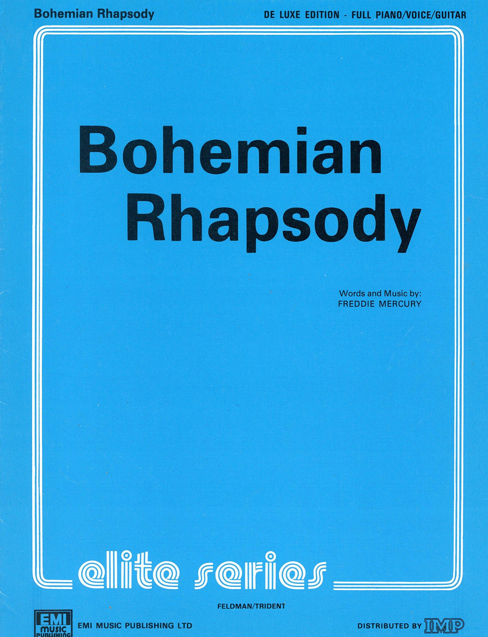Bohemian Rhapsody Single Sheet Music Pianovocalguitar Amazon