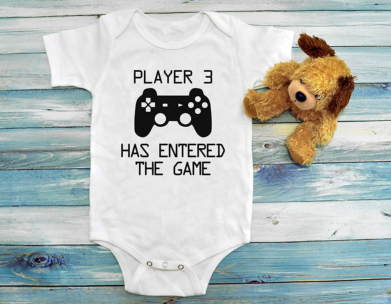 Player 3 Gamer Onesies Gamer Funny Baby Onesies Boy Clothes Shower Gift