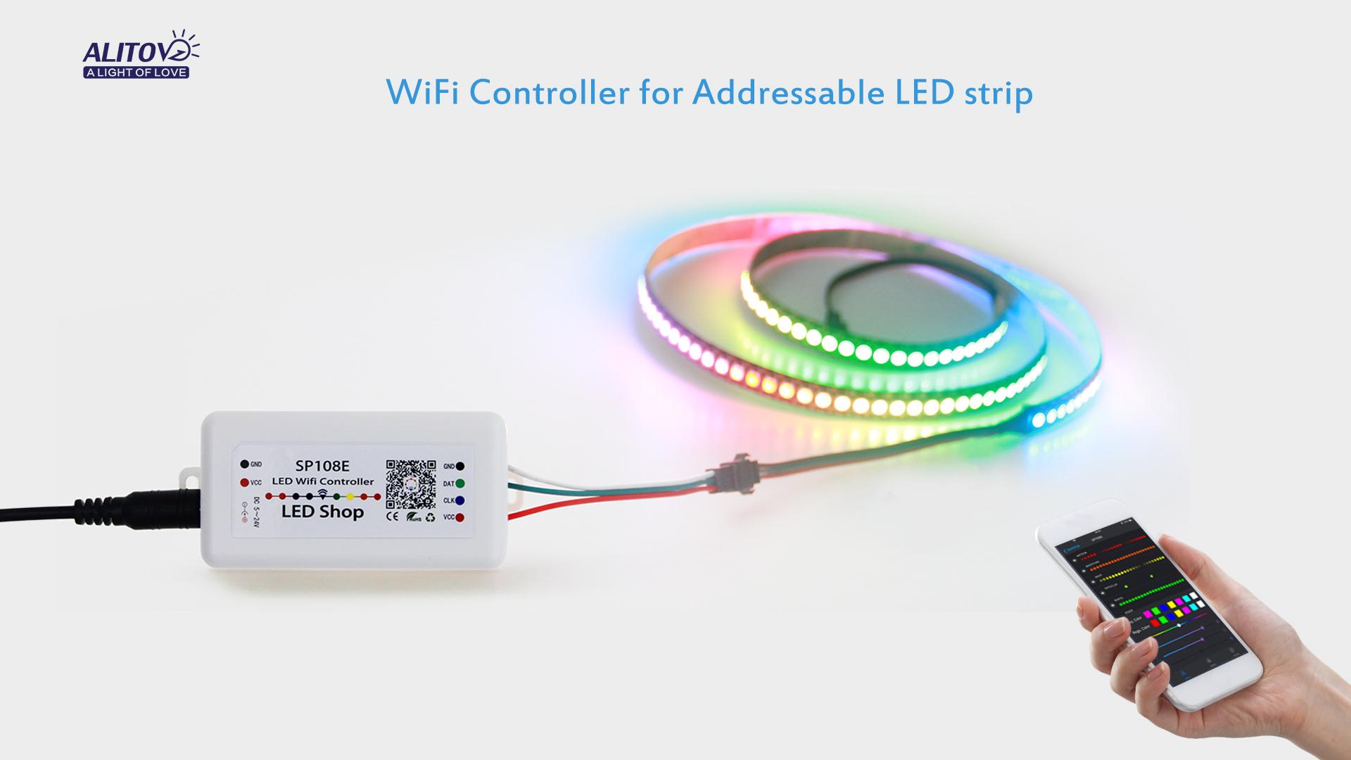 ALITOVE WS2812B WS2811 WS2801 LED WiFi Controller, iOS