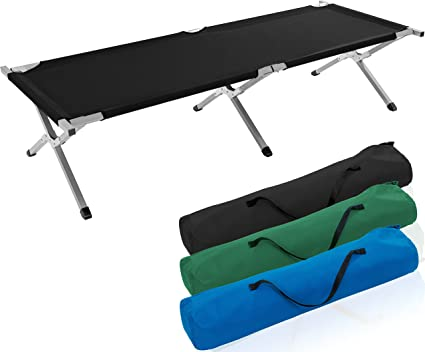 Tresko Camp Bed Folding Bed Outdoor Camping Sun Lounger 210 X 72 X 45 Or 190 X 64 X 44 Cm Portable With Carry Bag Up To 150 Kg Carrying Capacity Amazon Co Uk Sports Outdoors