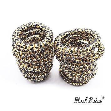 Amazon.com   20PCS Blank Balan Plastic Leopard Pattern Spiral Hair Ties 6b860d9ee52