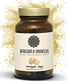 Hericium & Erinaceus Vitalpilz Kapseln I Vegan I Igelstachelbart Extrakt   140 Stück I Superfood I Vitales Immunsystem Und Gesunder Darm I By Super & Natural
