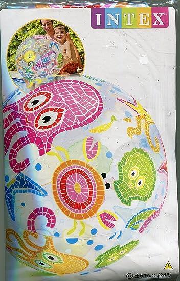 Intex-59050NP Pelota Playa, (159050NP) , Modelos/colores Surtidos, 1 Unidad