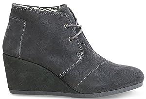 TOMS Womens Desert Wedges Boot (5.5 B(M) US, Castlerock Grey)
