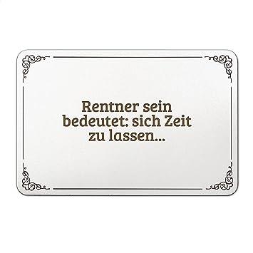 Mr Mrs Panda Türschild Mit Spruch Rentner Sein Bedeutet