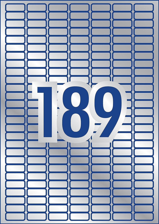 27 Pezzi per Foglio 63.5 x 29.6 Bianco 20 Fogli Avery L6114-20 Etichette Antimanomissione