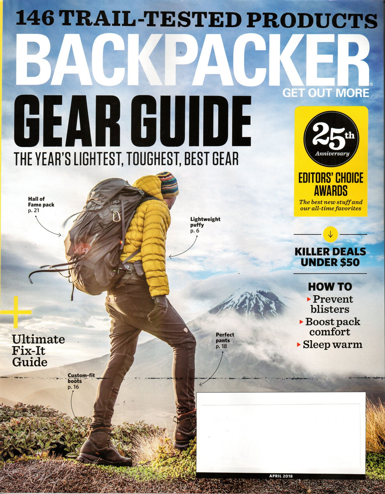 backpacker magazine april 2018 gear guide various amazon com books rh amazon com Guide Gear Tree Stands trail magazine gear guide