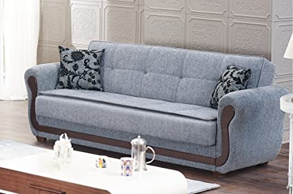 BEYAN Surf Avenue Collection Tufted Large Folding Sofa Sleeper Bed With Storage  Space And Includes 2