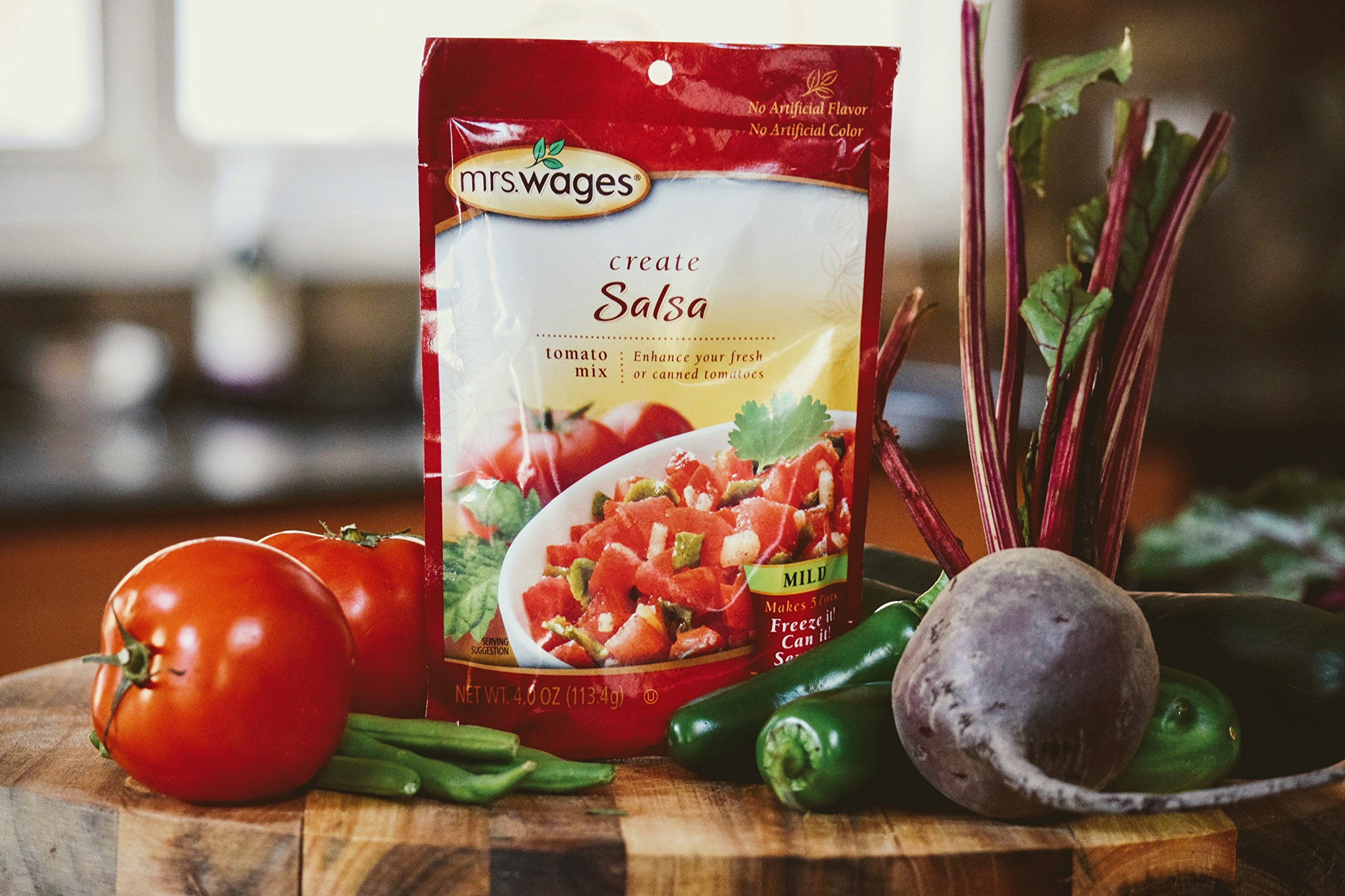 Mrs. Wages Create Salsa Tomato Mix, 4 Ounce (Pack of 12) by Mrs. Wages (Image #2)