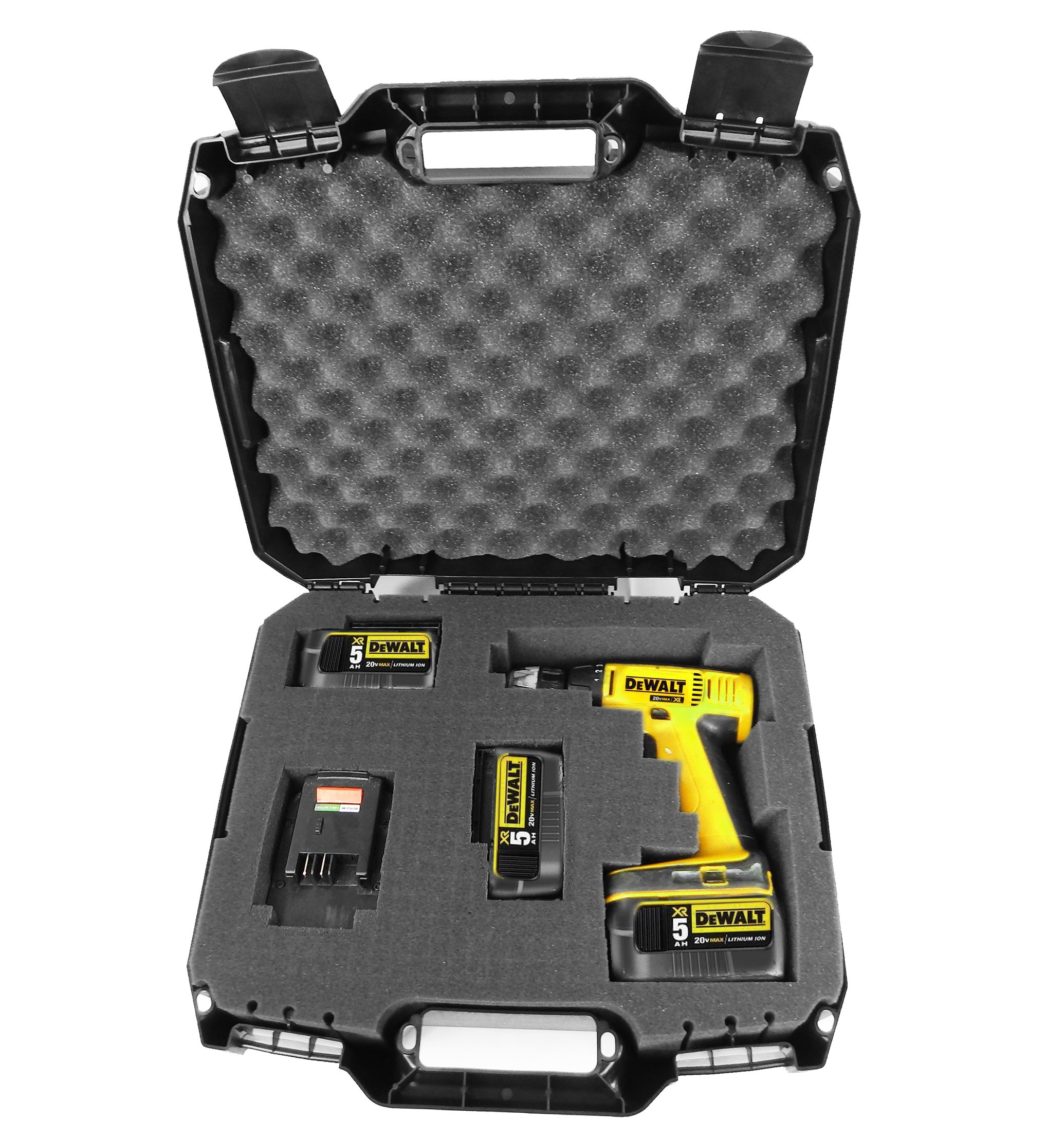 CASEMATIX RUGGED Impact Driver and Power Tool Case Fits Dewalt Impact Wrench , Batteries Chargers and Bits - Fits DCF899HB , DC825B , DCF887B , DC820B , DCF883B , DCF899B , DCF886B , DC823B and More by CASEMATIX