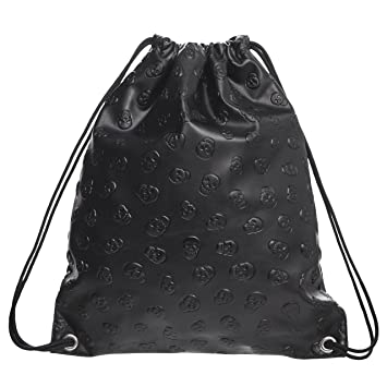 Fringoo ® Mens Womens Holographic Drawstring Bag Silver Leather ...