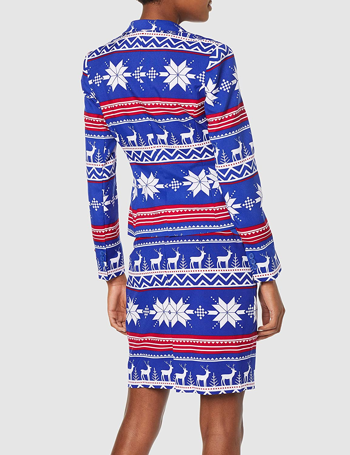 6198d3a556188e Opposuits Christmas Suits for Women in Different Prints - Ugly Xmas Sweater  Costumes Include Blazer and Skirt: Amazon.co.uk: Toys & Games