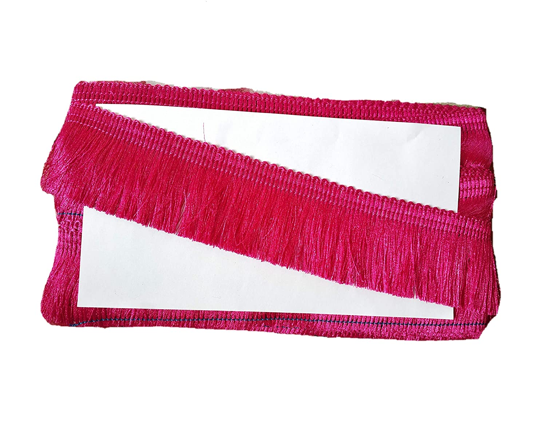 Hariyani Lace 2 inch Polyester Fringe Tassel Trim 5 Yards Beige
