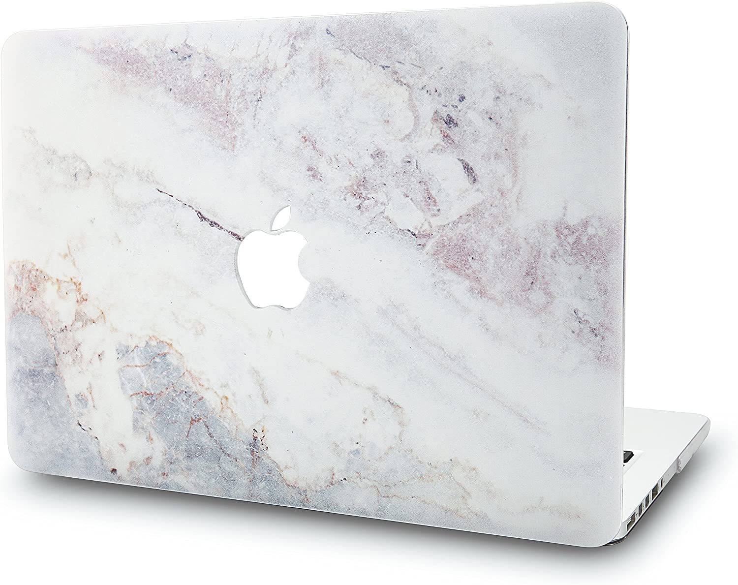 "KECC Laptop Case for Old MacBook Pro 15"" Retina (-2015) Plastic Case Hard Shell Cover A1398 (White Marble 2)"