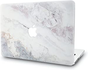 "KECC Laptop Case for MacBook Air 13"" Plastic Case Hard Shell Cover A1466/A1369 (White Marble 2)"