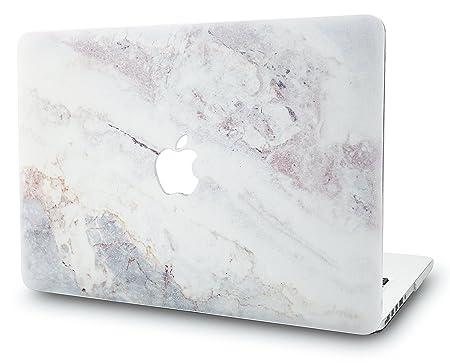 KECC MacBook Pro Retina 13 Zoll Hülle Schutzhülle Case Cover MacBook Pro 13.3 Retina Hülle {A1502/A1425} (Marmor Weiß 2)