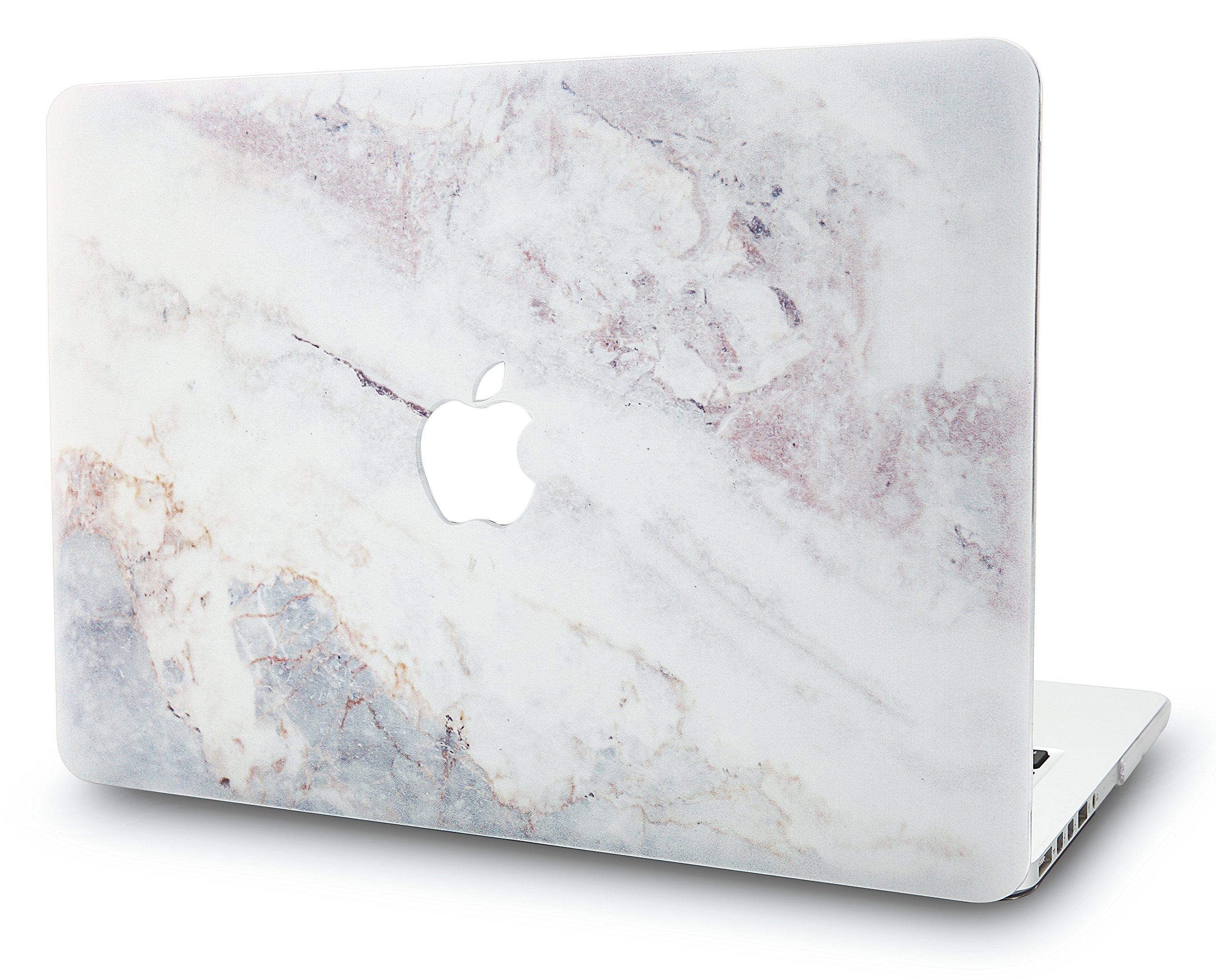 KEC Laptop Case for MacBook Pro 13'' (2019/2018/2017/2016) Plastic Hard Shell Cover A1989/A1706/A1708 Touch Bar (White Marble 2)