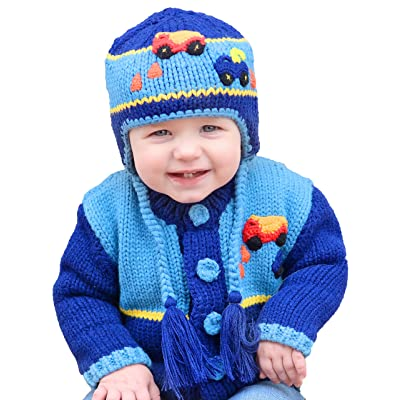 Huggalugs Baby and Toddler Boys Construction Truck Beanie Hat
