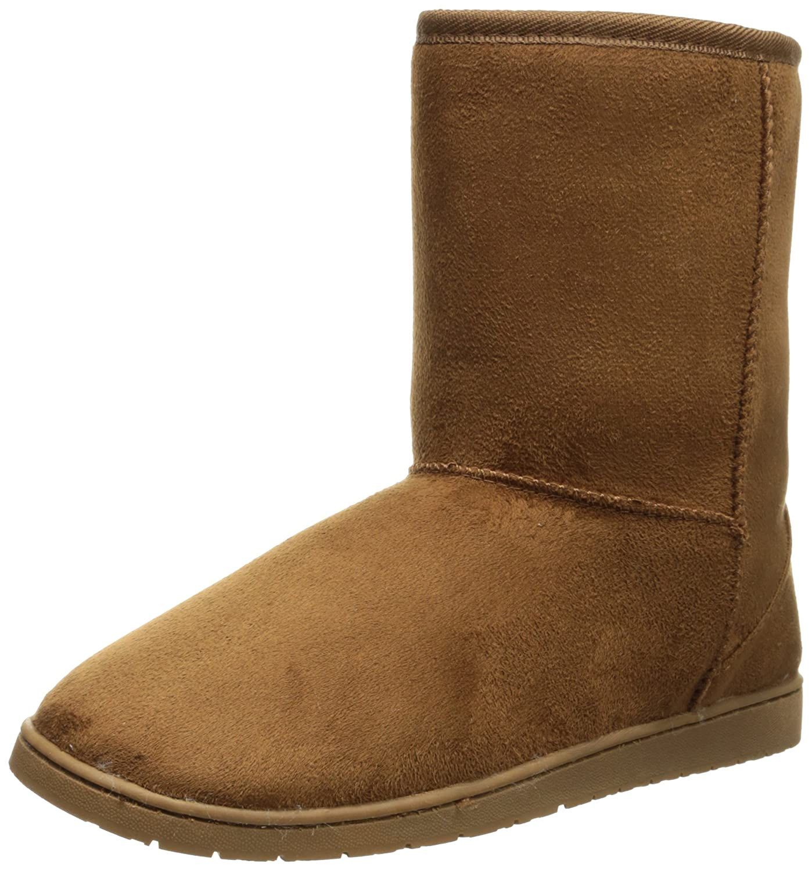 010f50a92e55 Amazon.com | DAWGS Womens 9 Inch Faux Shearling Microfiber Vegan Winter  Boots | Snow Boots