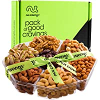 Gourmet Gift Basket Assortment, Fresh Nut Tray (7 Mix) - Variety Care Package, Birthday Party Food, Holiday Arrangement Platter - Healthy Snack Box for Families, Women, Men, Adults