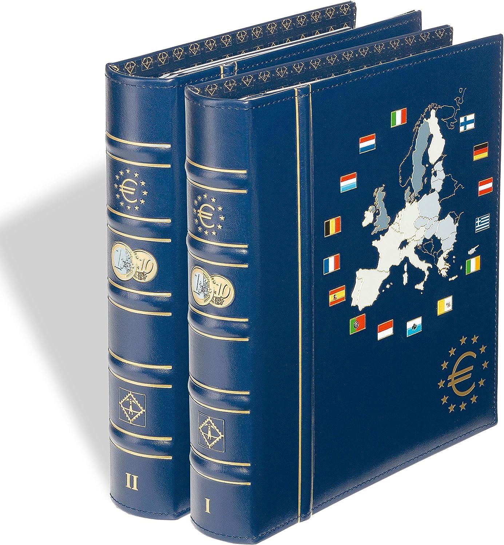 LEUCHTTURM 336883 Album illustr/é OPTIMA album numismatique pour une s/érie de pi/èces
