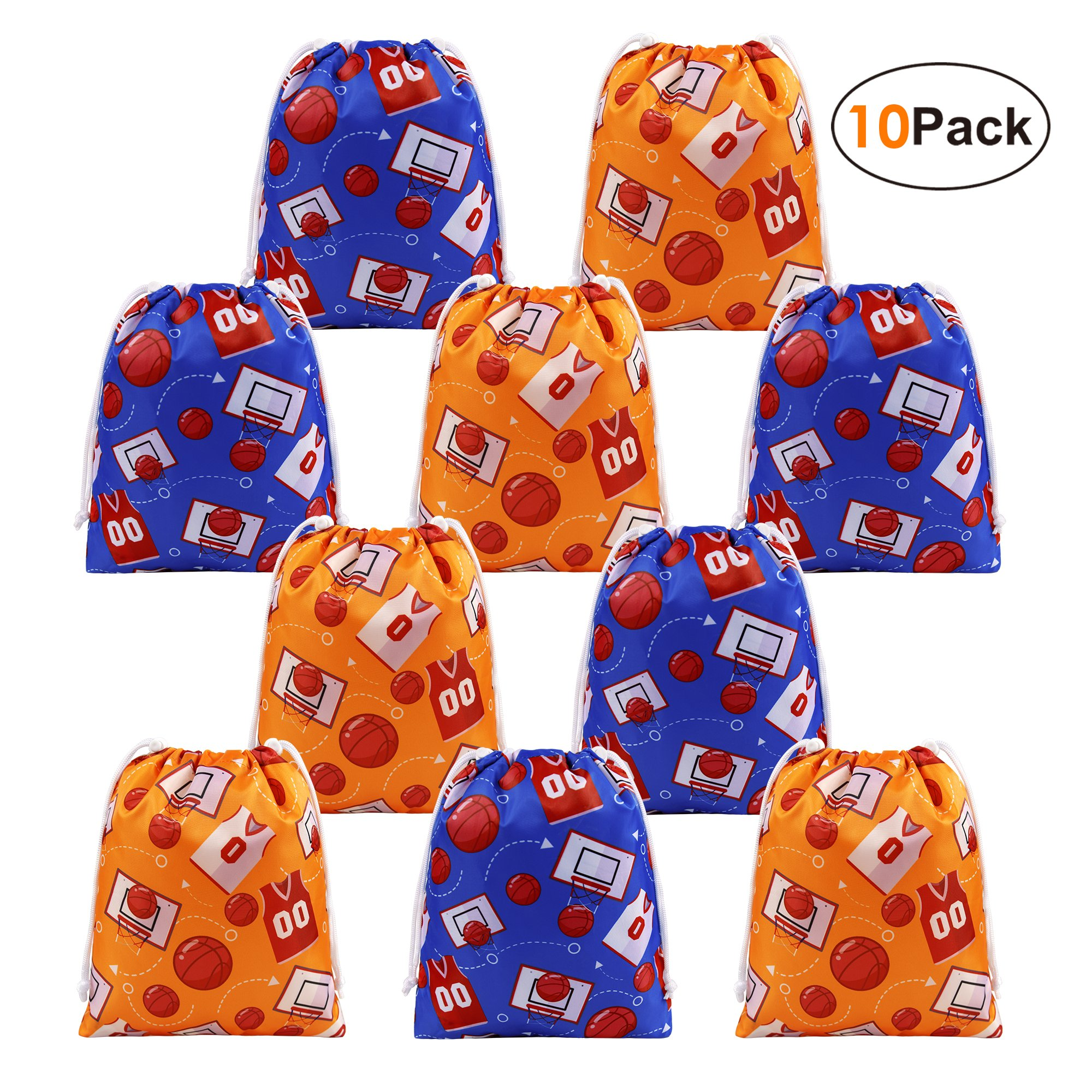 Basketball Party Supplies Favors Bags Drawstring Goodie Pouches