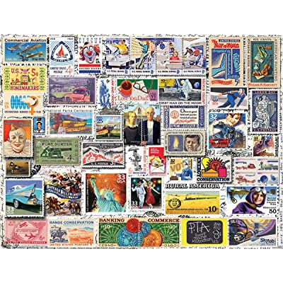 White Mountain Puzzles 1238 Classic Stamps, 550Piece Jigsaw Puzzle: Toys & Games