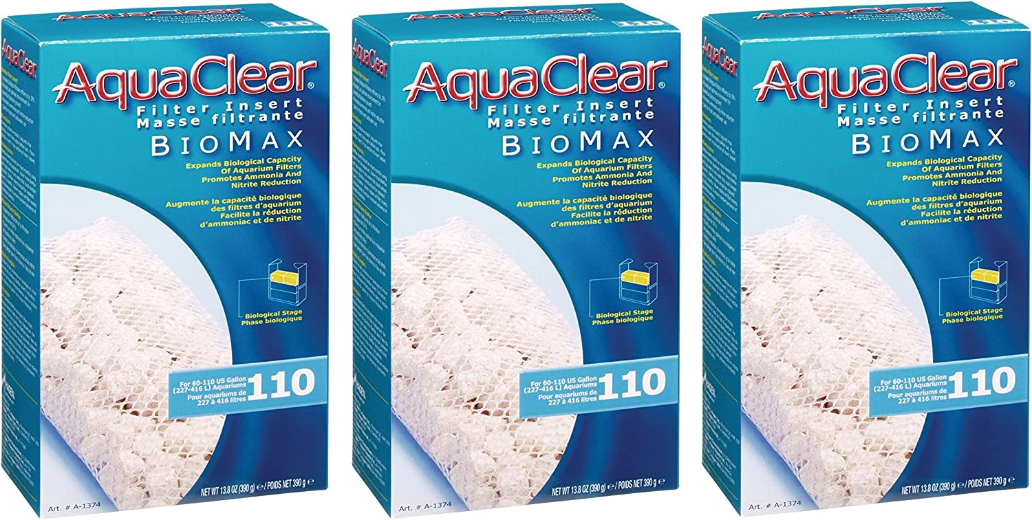 Aquaclear 110-gallon Biomax 3 Pack