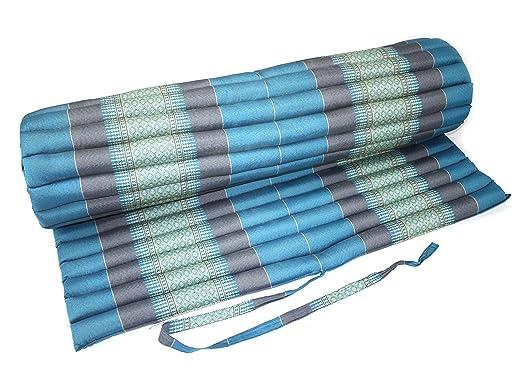Azul claro de colchón cojín Thai de patrón de cubos ...