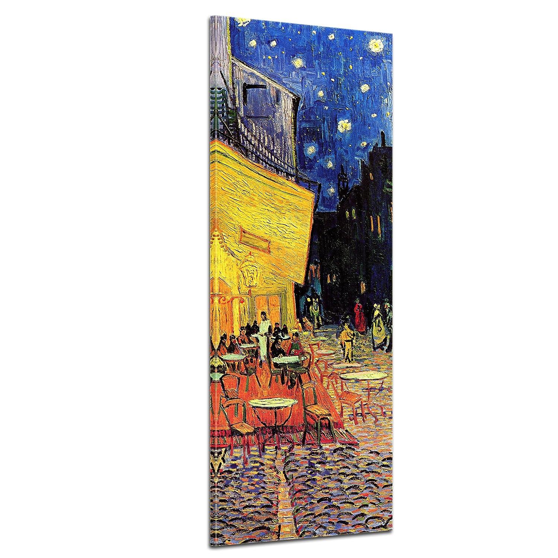 Bilderdepot24 Kunstdruck - Alte Meister - Vincent Van Gogh - Caféterrasse am Abend - Panorama 50x160cm einteilig - Leinwandbilder - Bild auf Leinwand