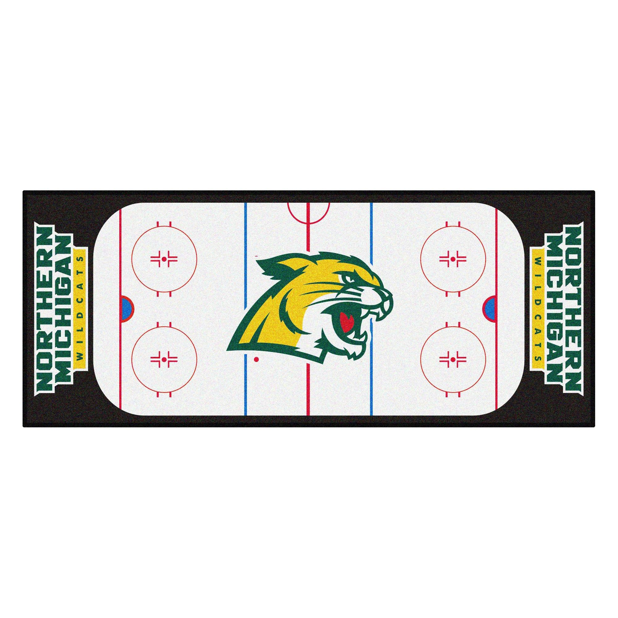 NCAA Northern Michigan University Wildcats Rink Non-Skid Mat Area Rug Runner