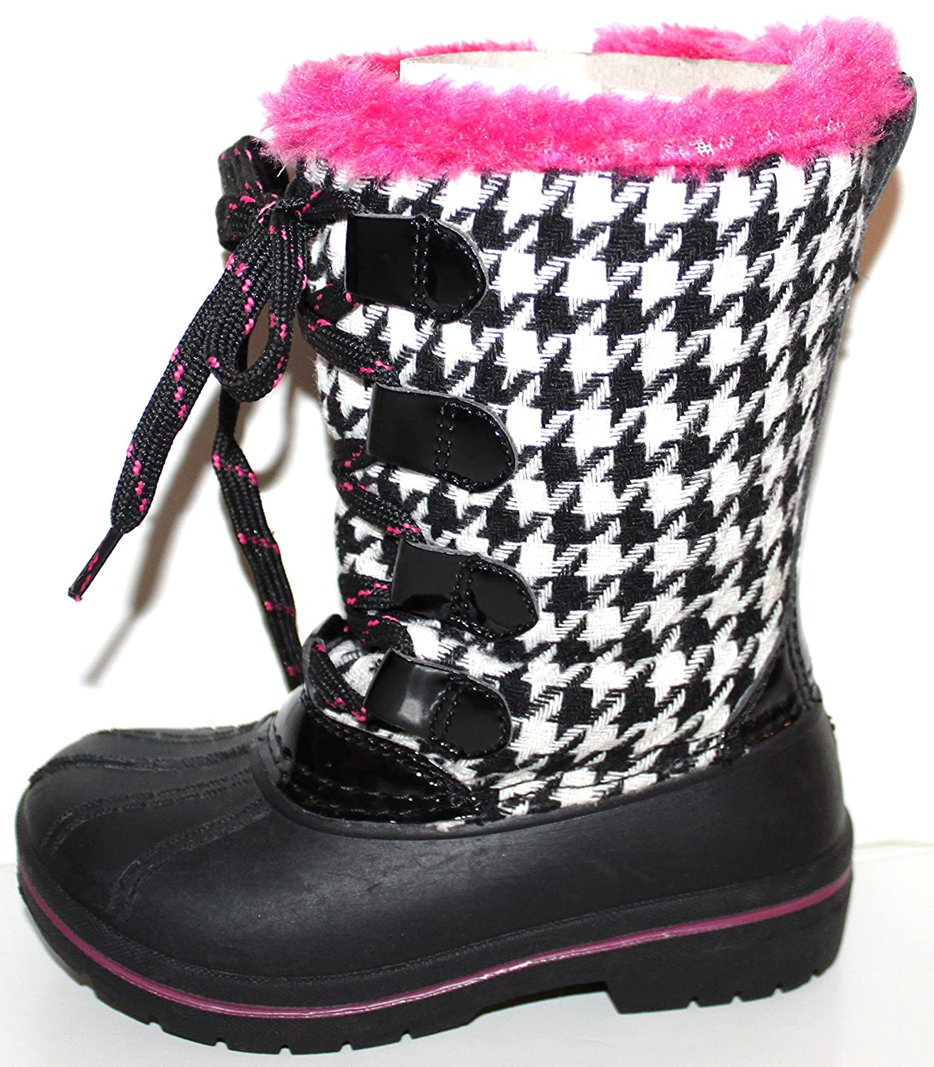 Ozark Trail Toddler Preschool Girls Plaid Winter Duck Boots with 5 Temp Rating