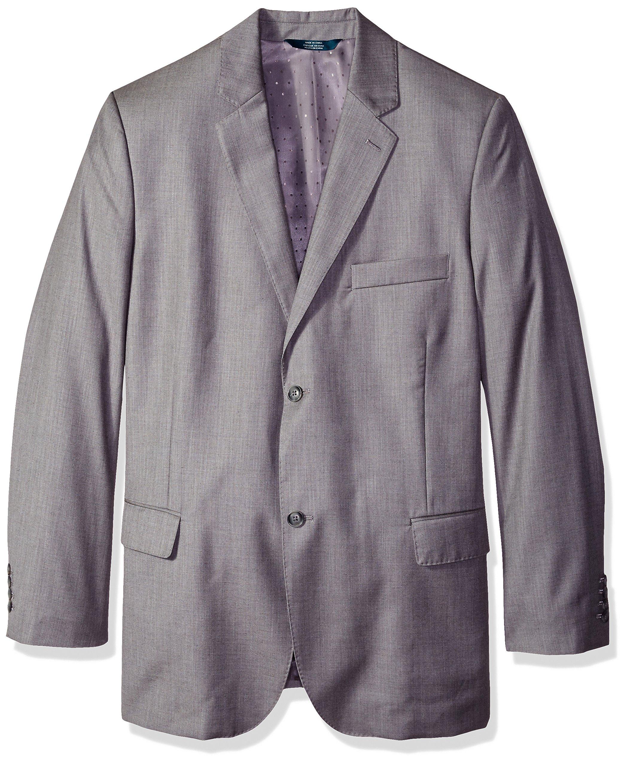 Perry Ellis Men's Tall Texture Pvl Suit Jacket, Brushed Nickel, 52 Big