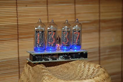 Nixie Clock with IN14 Tubes, Assembled.