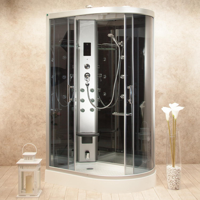 Cabina de ducha hidromasaje Atenas 120 x 80 Izquierda multifunción: Amazon.es: Bricolaje y herramientas