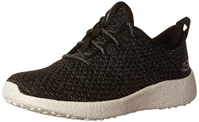 25d456aafab Skechers Sport Women's Burst City Scene Fashion Sneaker,Black/White,5 ...