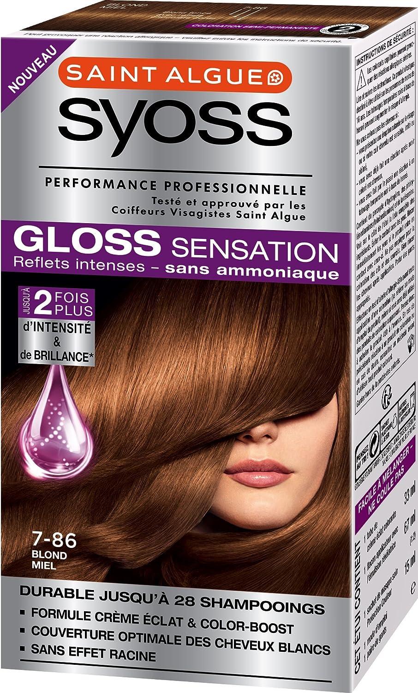 syoss gloss sensation coloration permanente 786 blond miel 67 ml - Syoss Coloration Prix