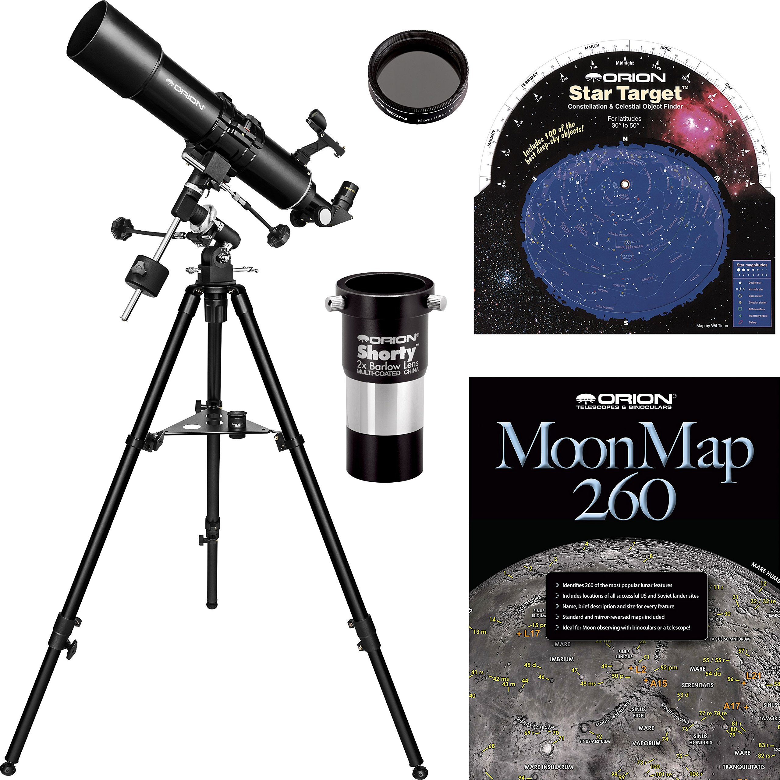 Orion BX90 EQ 90mm Refractor Telescope Kit by Orion (Image #1)